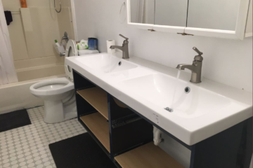 Ikea GodMorgon Double Vanity Installation